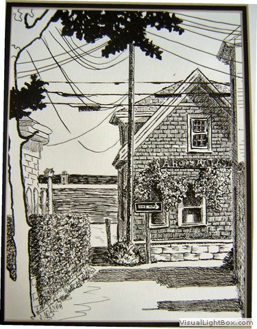 White Line Block Prints Pen And Ink Gallery Generated By